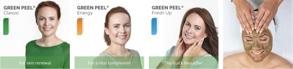 Green Peel treatments Energy, Fresh up and Classic